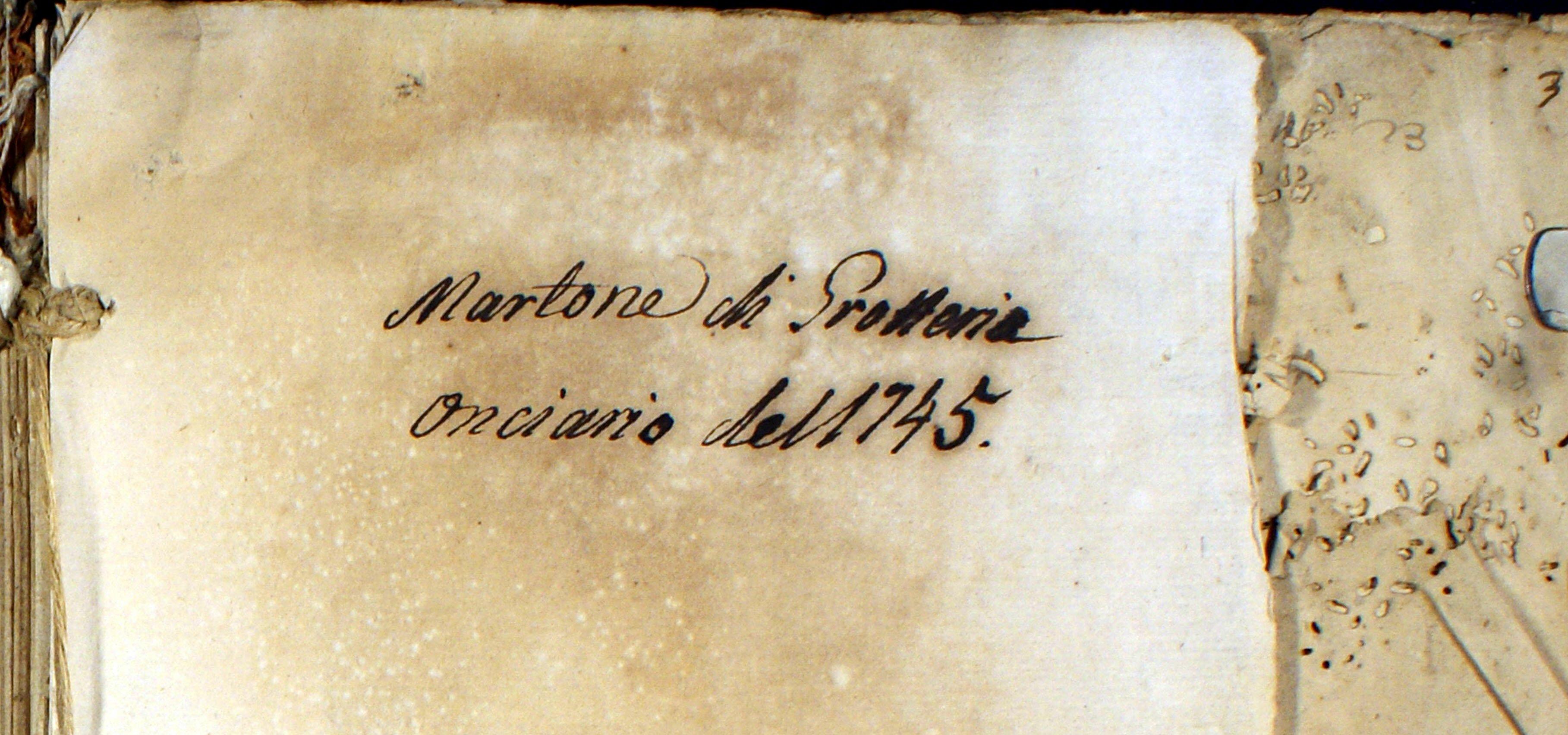 Martone di Grotteria Onciario del 1745